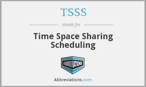 TSSS - Time Space Sharing Scheduling