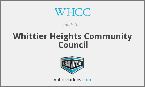 WHCC - Whittier Heights Community Council