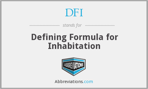 DFI - Defining Formula for Inhabitation
