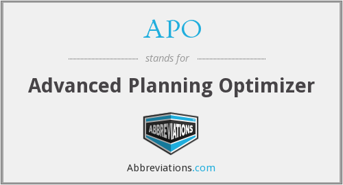 APO - Advanced Planning Optimizer