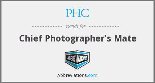 PHC - Chief Photographer's Mate