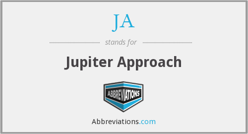 JA - Jupiter Approach