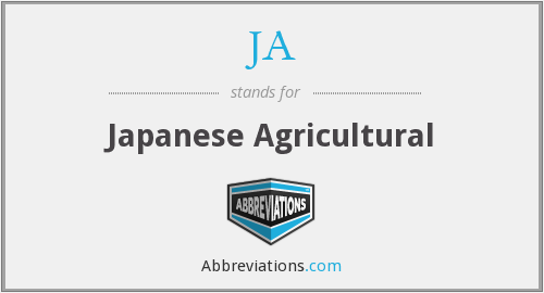 JA - Japanese Agricultural