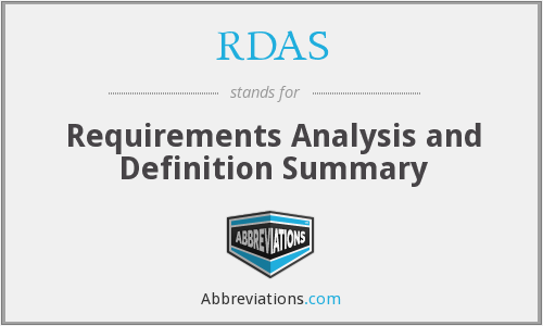 RDAS - Requirements Analysis and Definition Summary