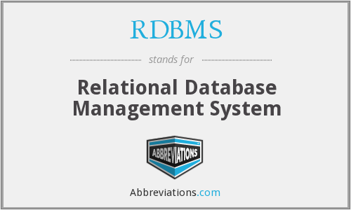 What does RDBMS stand for?