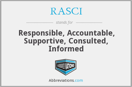 What does RASCI stand for?