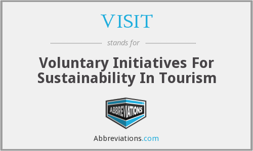 VISIT - Voluntary Initiatives For Sustainability In Tourism