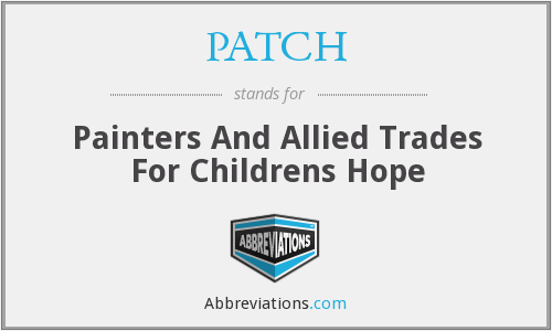 PATCH - Painters And Allied Trades For Childrens Hope