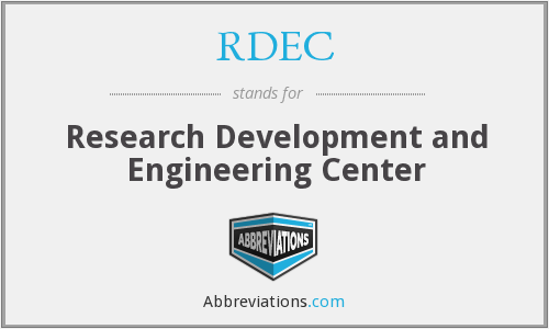 What does RDEC stand for?