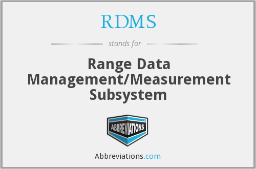 RDMS - Range Data Management/Measurement Subsystem