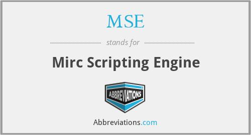 MSE - Mirc Scripting Engine