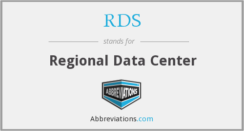 RDS - Regional Data Center