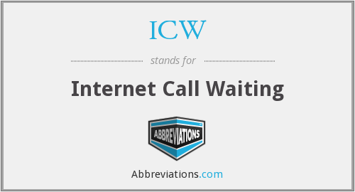 ICW - Internet Call Waiting
