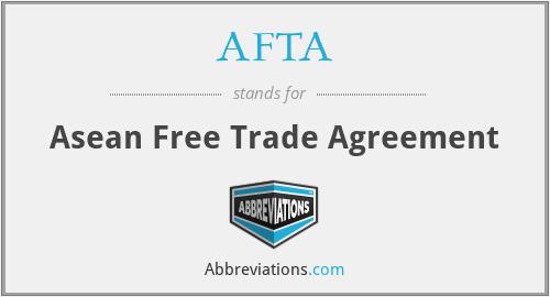 AFTA - Asean Free Trade Agreement