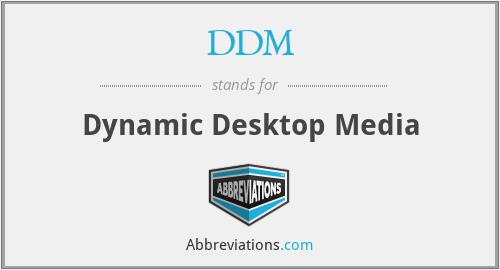 DDM - Dynamic Desktop Media