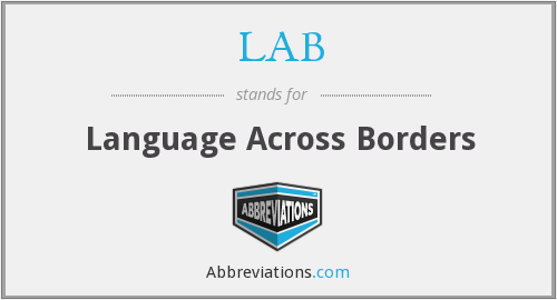 LAB - Language Across Borders
