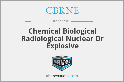 CBRNE - Chemical Biological Radiological Nuclear Or Explosive