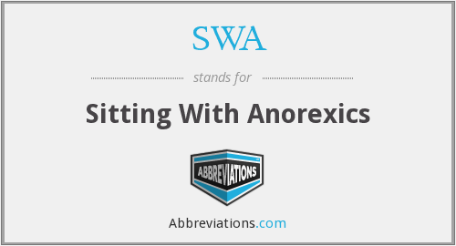 SWA - Sitting With Anorexics