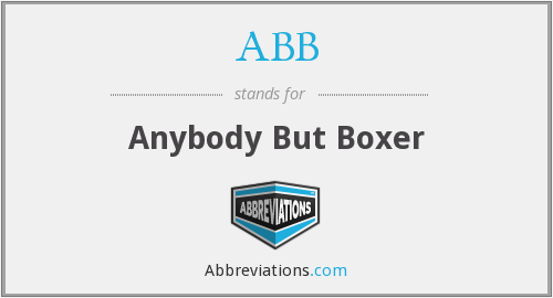 ABB - Anybody But Boxer