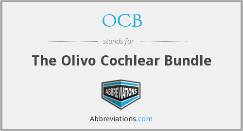 OCB - The Olivo Cochlear Bundle