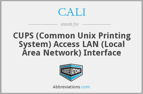 CALI - CUPS (Common Unix Printing System) Access LAN (Local Area Network) Interface