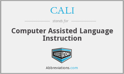 CALI - Computer Assisted Language Instruction