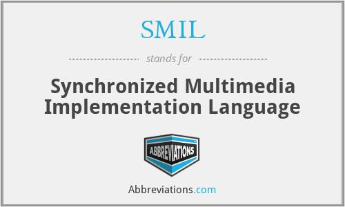 SMIL - Synchronized Multimedia Implementation Language