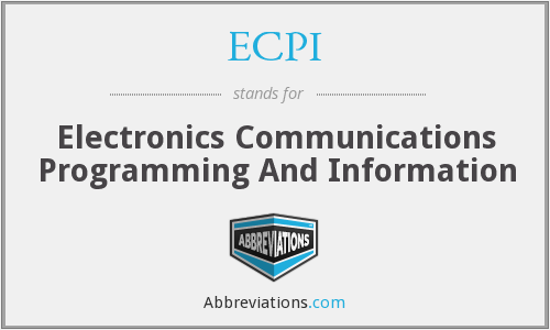 ECPI - Electronics Communications Programming And Information