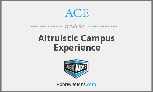 ACE - Altruistic Campus Experience