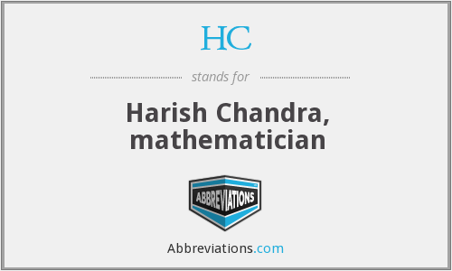 HC - Harish Chandra, mathematician