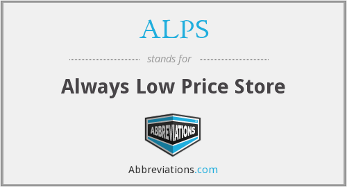 ALPS - Always Low Price Store