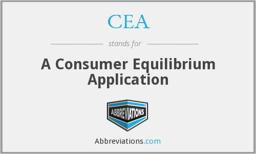 CEA - A Consumer Equilibrium Application