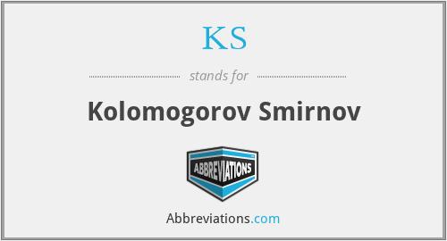 KS - Kolomogorov Smirnov