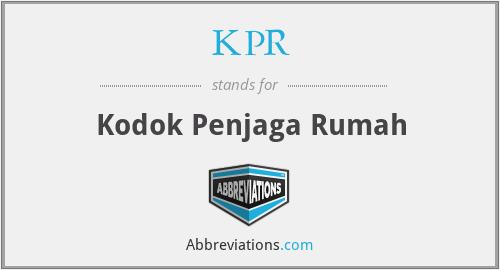 KPR - Kodok Penjaga Rumah