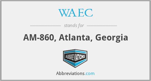 WAEC - AM-860, Atlanta, Georgia