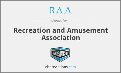 RAA - Recreation and Amusement Association