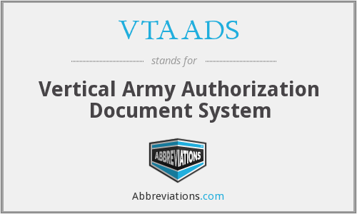 What does VTAADS stand for?