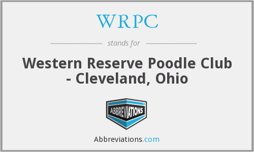 WRPC - Western Reserve Poodle Club - Cleveland, Ohio
