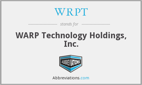 WRPT - WARP Technology Holdings, Inc.