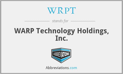 WRPT - WARP Technology Holdings, Inc.
