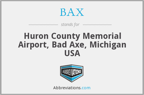 BAX - Huron County Memorial Airport, Bad Axe, Michigan USA