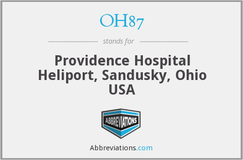 OH87 - Providence Hospital Heliport, Sandusky, Ohio USA