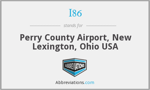 I86 - Perry County Airport, New Lexington, Ohio USA