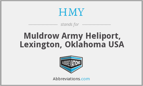 HMY - Muldrow Army Heliport, Lexington, Oklahoma USA