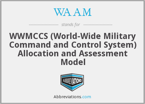 WAAM - WWMCCS (World-Wide Military Command and Control System) Allocation and Assessment Model
