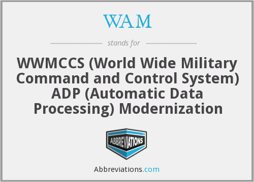 WAM - WWMCCS (World Wide Military Command and Control System) ADP (Automatic Data Processing) Modernization