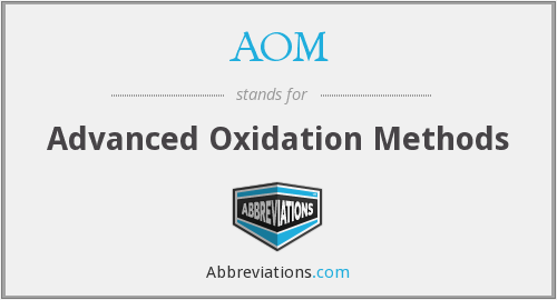 AOM - Advanced Oxidation Methods