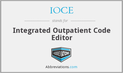 IOCE - Integrated Outpatient Code Editor