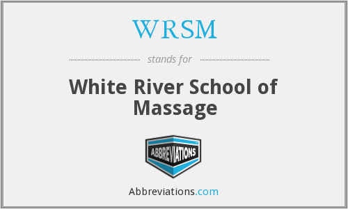 WRSM - White River School of Massage