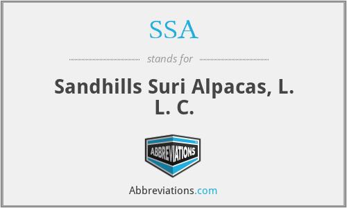 SSA - Sandhills Suri Alpacas, L. L. C.